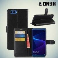 Чехол книжка для Huawei Honor View 10 (V10) - Черный