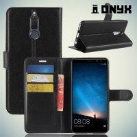 Чехол книжка для Huawei Nova 2i - Черный