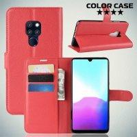 Чехол книжка для Huawei Mate 20 - Красный