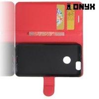 Чехол книжка для Huawei nova - Красный