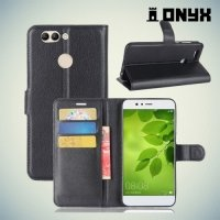Чехол книжка для Huawei nova 2 Plus - Черный