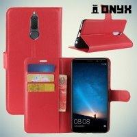 Чехол книжка для Huawei Nova 2i - Красный