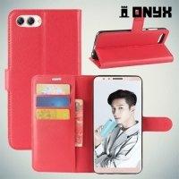 Чехол книжка для Huawei Nova 2s - Красный
