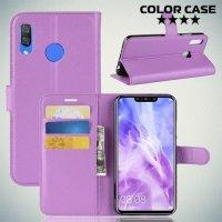 Чехол книжка для Huawei Nova 3 - Фиолетовый