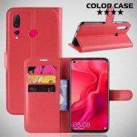 Чехол книжка для Huawei nova 4 - Красный