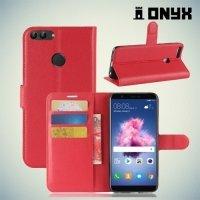 Чехол книжка для Huawei P Smart - Красный