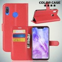 Чехол книжка для Huawei P smart+ / Nova 3i - Красный