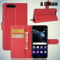 Чехол книжка для Huawei P10 - Красный