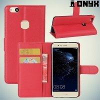Чехол книжка для Huawei P10 Lite - Красный