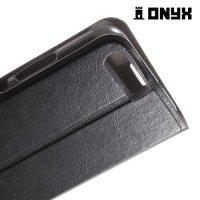 Чехол книжка флип кейс для Huawei P10 - Черный