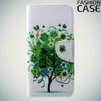 Чехол книжка для Huawei P20 - с рисунком Дерево счастья