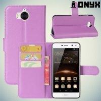 Чехол книжка для Huawei Y5 2017 / Y6 2017 - Фиолетовый