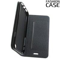 Чехол книжка для iPhone 8/7 с скрытой магнитной застежкой - Серый