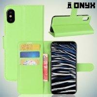 Чехол книжка для iPhone 8 - Зеленый