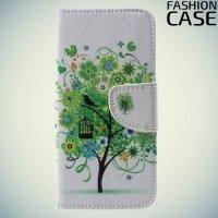 Чехол книжка для iPhone 8 - с рисунком Дерево счастья