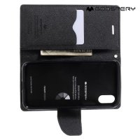 Чехол книжка для iPhone Xs / X Mercury Goospery - Черный