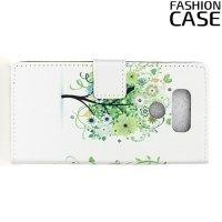Чехол книжка для LG G6 H870DS - с рисунком Дерево счастья