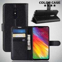 Чехол книжка для LG G7 Fit - Черный