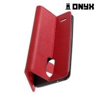 Чехол книжка для LG K4 (2017) X230 - Красный