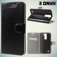 Чехол книжка для LG K8 K350E - Черный
