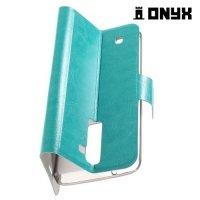Чехол книжка для LG K8 K350E - Голубой