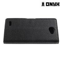 Чехол книжка для LG Max X155 - Черный
