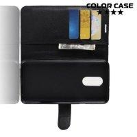 Чехол книжка для LG Q Stylus+ Q710 - Черный
