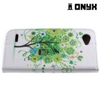 Чехол книжка для LG Q6 M700AN / Q6a M700 - Дерево счастья