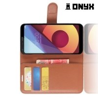 Чехол книжка для LG Q6 M700AN / Q6a M700 - Коричневый