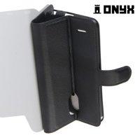 Чехол книжка для LG Stylus 3 M400DY - Черный