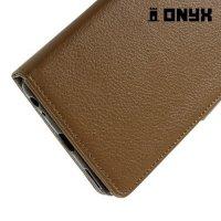 Чехол книжка для LG V20 - Коричневый