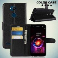 Чехол книжка для LG X Power 3 - Черный