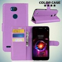 Чехол книжка для LG X Power 3 - Фиолетовый