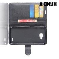 Чехол книжка для LG X venture M710DS - Черный