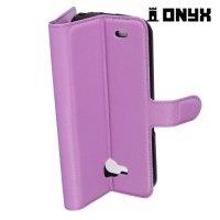 Чехол книжка для LG X venture M710DS - Фиолетовый