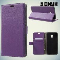Чехол книжка для Meizu m5 - Фиолетовый
