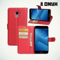 Чехол книжка для Meizu M5 Note - Красный