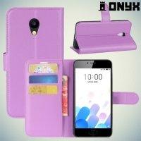 Чехол книжка для Meizu M5c - Фиолетовый