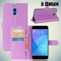 Чехол книжка для Meizu M6 Note - Фиолетовый