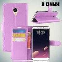 Чехол книжка для Meizu M6s - Фиолетовый