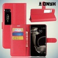 Чехол книжка для Meizu Pro 7 Plus - Красный