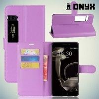 Чехол книжка для Meizu Pro 7 Plus - Фиолетовый
