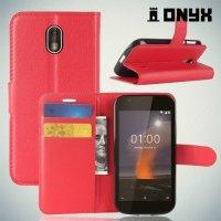 Чехол книжка для Nokia 1 - Красный