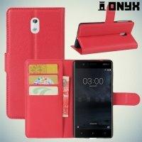 Чехол книжка для Nokia 3 - Красный