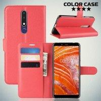Чехол книжка для Nokia 3.1 Plus - Красный