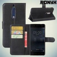 Чехол книжка для Nokia 5 - Черный