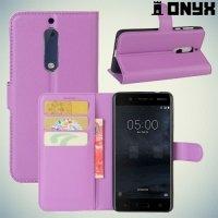 Чехол книжка для Nokia 5 - Фиолетовый