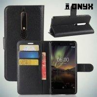 Чехол книжка для Nokia 6.1 - Черный