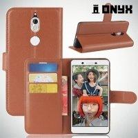 Чехол книжка для Nokia 7 - Коричневый