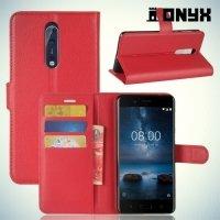 Чехол книжка для Nokia 8 - Красный